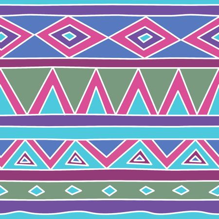 Aztec tribal seamless pattern. Hand drawn Tribal Polynesian Ilustrace