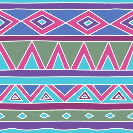 Aztec tribal seamless pattern. Hand drawn Tribal Polynesian Illustration