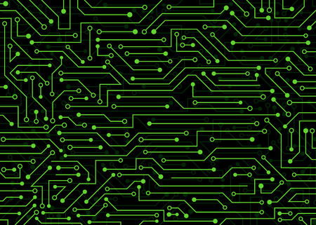 Circuit imprimé, arrière-plan technologique. illustration de fond de vecteur pour le web, la décoration, la conception graphique