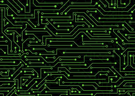 Leiterplatte, Technologiehintergrund. Vektorhintergrundillustration für Web, Dekor, Grafikdesign