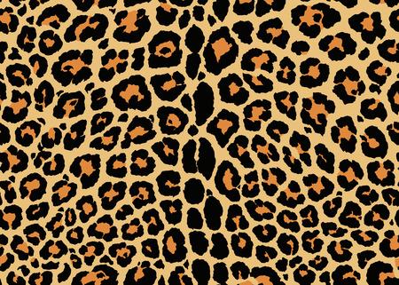 Design mit Leopardenmuster. Nahtloses Leopardenmusterdesign, Vektorillustrationshintergrund. Pelztierhaut-Designillustration für Web-, Mode-, Textil-, Druck- und Oberflächendesign
