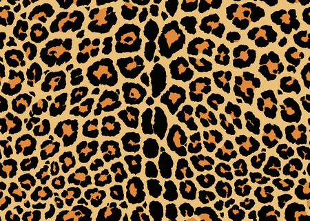 Ontwerp met luipaardpatroon. Naadloos Luipaardpatroonontwerp, vectorillustratieachtergrond. Bont dierenhuid ontwerp illustratie voor web-, mode-, textiel-, print- en oppervlakteontwerp