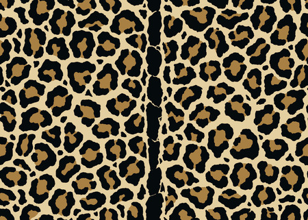 Abstract Leopard pattern print with mid vertical spine design. Seamless Leopard pattern design, vector illustration background. Fur animal skin design illustration for web, fashion, textile, print, and surface design