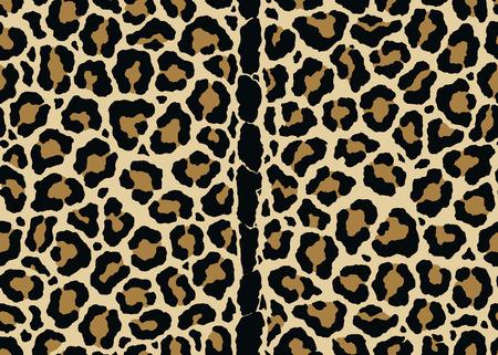 Abstrakter Leopardenmusterdruck mit mittlerem vertikalem Rückendesign. Nahtloses Leopardenmusterdesign, Vektorillustrationshintergrund. Pelztierhaut-Designillustration für Web-, Mode-, Textil-, Druck- und Oberflächendesign