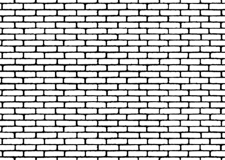 Brick wall texture pattern. White on black bricks. Vector illustration background  for fashion, surface design for web, home decor, fashion, surface, graphic design