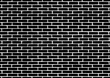 Brick wall texture pattern. Black on white. Vector illustration background for fashion, surface design for web, home decor, fashion, surface, graphic design