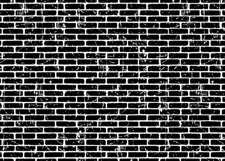 Brick wall texture pattern.Black on white bricks.  Grunge and distressed effect. Vector illustration background  for fashion, surface design for web, home decor, fashion, surface, graphic design