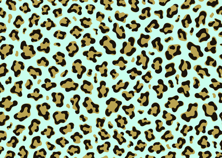 Simple Leopard pattern design. Animal print vector illustration background. Wildlife fur skin design illustration for web, home decor, fashion, surface, graphic design
