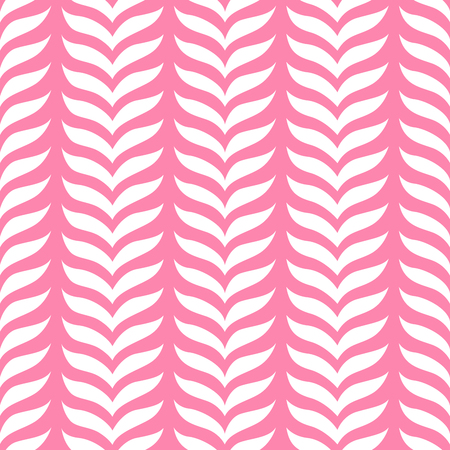Seamless leaf stripes pattern. Simple organic floral ornament. Ilustrace