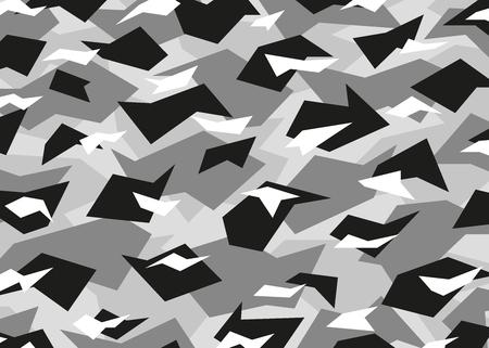 Graues modernes Tarnmuster. Vektorhintergrundillustration für Mode, Oberflächendesign für Web, Wohnkultur, Mode, Oberfläche, Grafikdesign Vektorgrafik