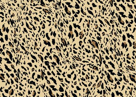 Leopard skin pattern design. Leopard print vector illustration background. Wildlife fur skin design illustration for print, web, home decor, fashion, surface, graphic design Illustration