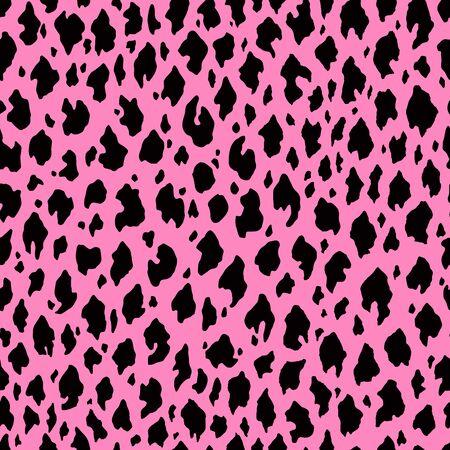 Pink Leopard skin seamless pattern design. Vector illustration background. For print, textile, web, home decor, fashion, surface, graphic design