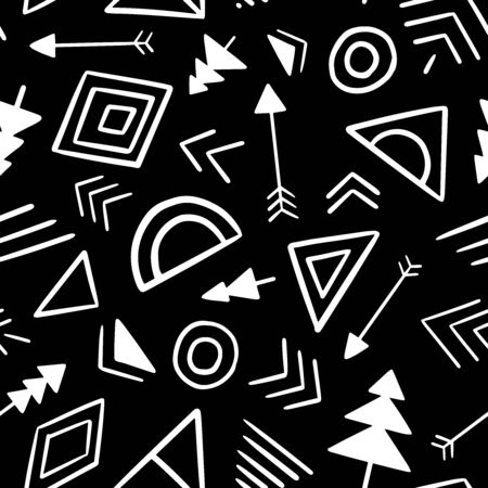 Tribal Abstract seamless repeat pattern. Vector illustration background. For print, textile, web, home decor, fashion, surface, graphic design