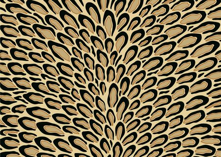 Abstract leopard peacock pattern. Vector illustration background. For print, textile, web, home decor, fashion, surface, graphic design 일러스트