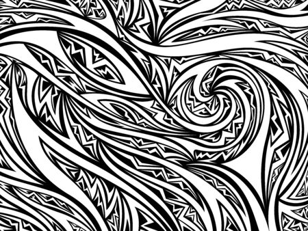 Abstract psychedelic wave pattern. Vector illustration background. For print, textile, web, home decor, fashion, surface, graphic design 일러스트