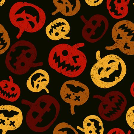 Halloween pumpkin seamless pattern. Vector illustration background. For print, textile, web, home decor, fashion, surface, graphic design
