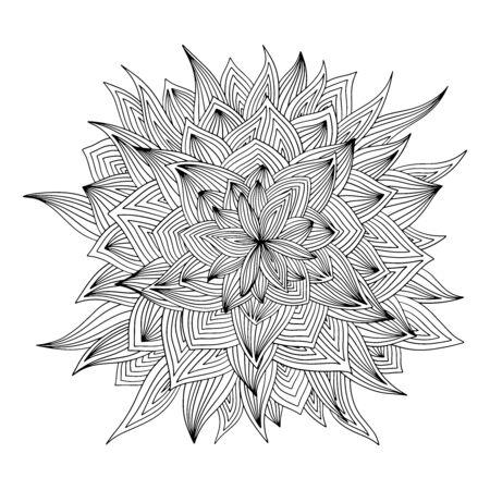 Abstract batik flower leaf art 일러스트