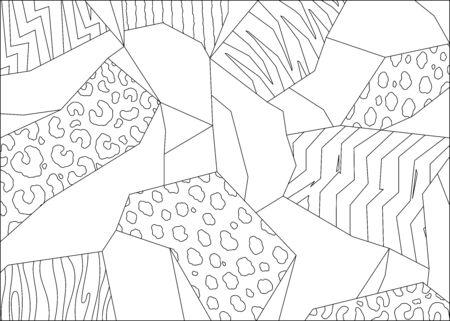 Abstract animal print background. Hand drawn illustration pattern 일러스트