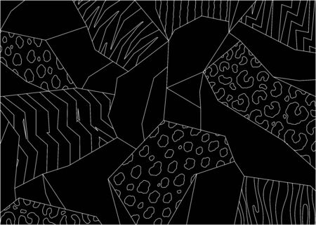 Abstract animal print background. Hand drawn illustration pattern.