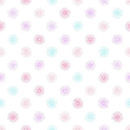 Abstract flower seamless pattern. Hand drawn illustration pattern.