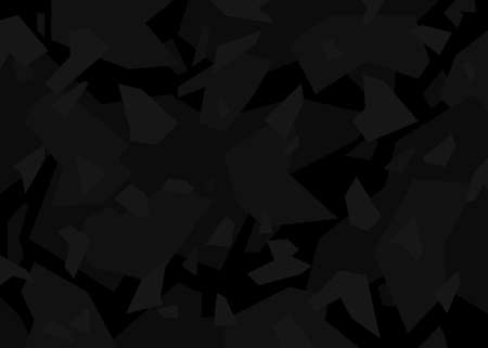 Black modern camouflage pattern. vector background illustration for web, background, surface design. 向量圖像