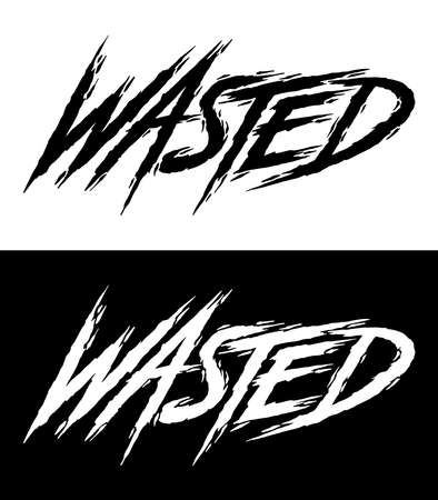 Hand lettering art. Rough brush style letters on isolated background. Black and white. Vector text illustration t shirt design, print, poster, icon, web, graphic designs.