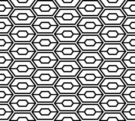 Abstract hexagon seamless pattern. Space age background. Vector illustration for surface design, print, poster, icon, web, graphic designs. 向量圖像