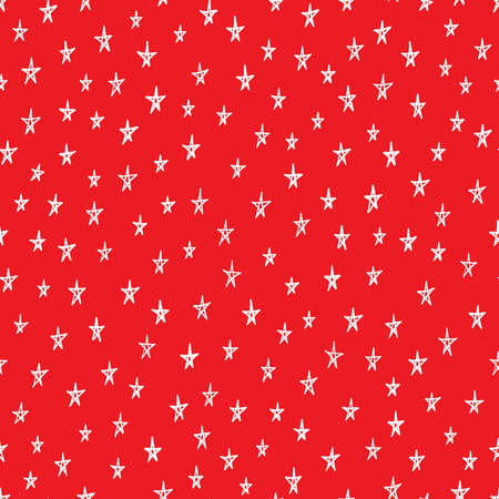 Doodle stars seamless pattern. Hand drawn Christmas theme stars background. Vector illustration for surface design, print, poster, icon, web, graphic designs. 向量圖像