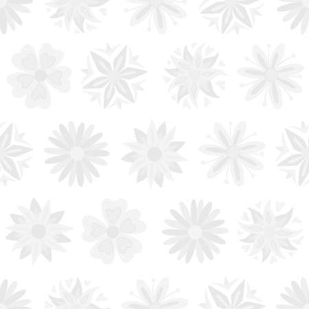 Abstract subtle flowers seamless pattern. Vector illustration pattern for surface, t shirt design, print, poster, icon, web, graphic designs. 向量圖像