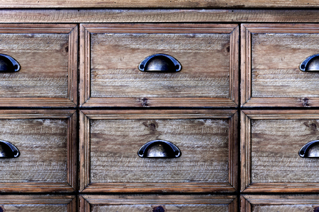 drawers: Old wooden vintage chest of drawers