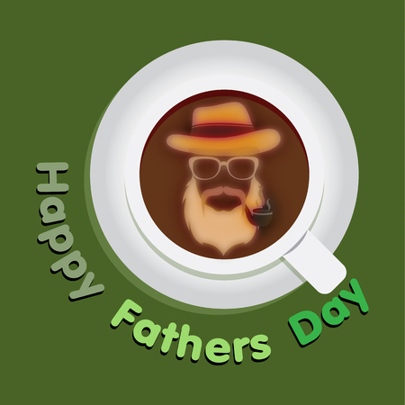 father: Happy father with coffee