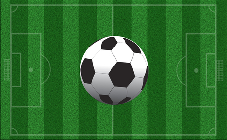 markup: Empty football field with markup. Top view. Sports Concept Stock Photo