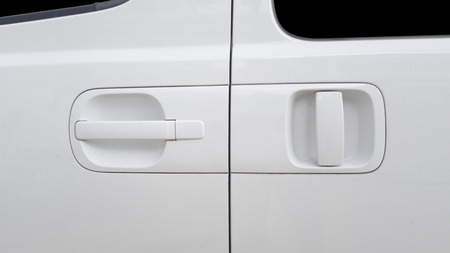 door handle: Car door handle Stock Photo