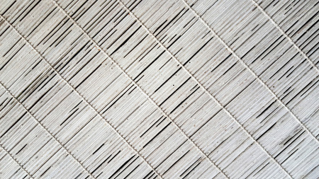wood blinds: Mat white wood blinds texture. Bamboo curtain.