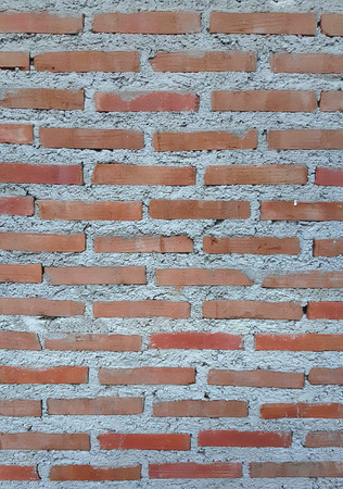 white washed: Red brick wall with white washed areas