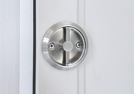 door handle: Modern style door handle on the door