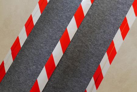 barrier: Barrier tape Stock Photo