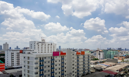 residential district: Residential district with high building at Bangkok, Thailand Stock Photo