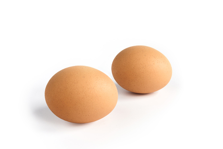 brown egg: Brown egg on white background