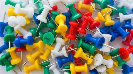 Office push pins - Coloured thumbtacks