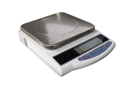 Digital scales Stock Photo