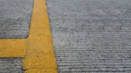 Road with yellow lines Stock Photo
