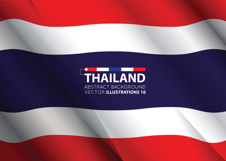 Concept with Thailand flag abstract colors background. image contains transparency. vector illustration.