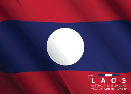 Concept with Laos flag abstract colors background. image contains transparency. vector illustration. Ilustração