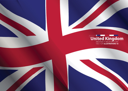 Concept with United Kingdom flag abstract colors background. image contains transparency. vector illustration. Ilustração
