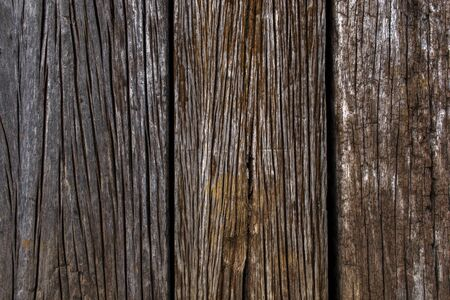 Old wooden background. Grunge background of old brown wooden plank. Vertical stripes