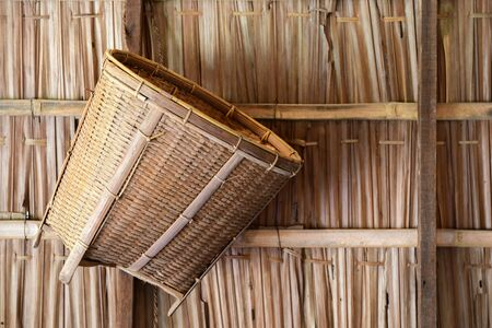 The product of weave machinery made from bamboo is a local product of Thailand.
