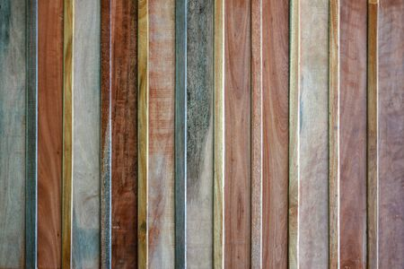 Old wood surface with long arranged rows. wood texture with natural pattern background
