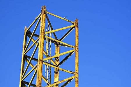Yellow structure part against a blue sky Stock Photo - 2538785