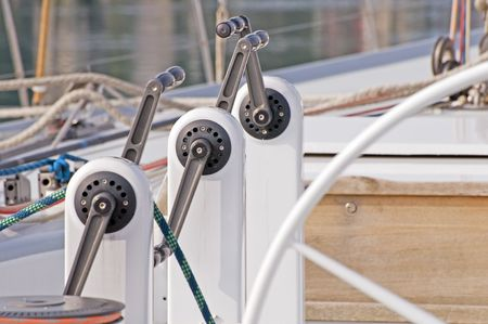 Grinders used on a boat to pull on sails